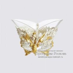 Серебряная конфетница Дракон