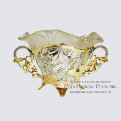 Серебряная конфетница Вишни
