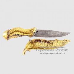 Нож из дамасской стали Медуза (без упаковки)
