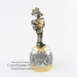 Серебряная рюмка Петух