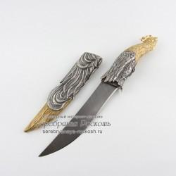 Дамасский нож Петух (без упаковки)