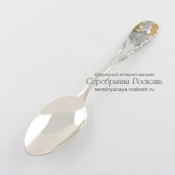 Серебряная ложка для ребенка Овен
