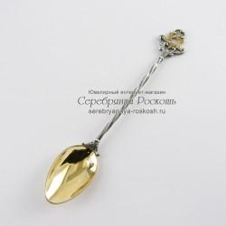 Серебряная чайная ложка Звезда Давида