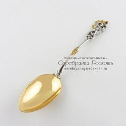 Ложка десертная из серебра Ангелочек
