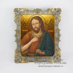 Серебряная икона Иоанн Креститель - Предтеча