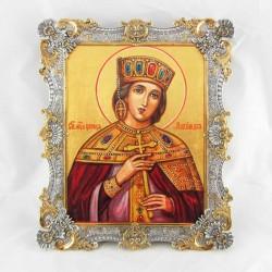 Икона в серебряном окладе Александра