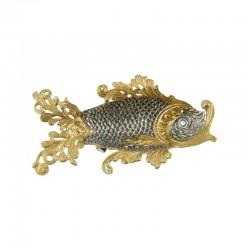 Икорница из серебра Рыбка ажурная