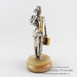 Серебряная статуэтка Бизнесмен