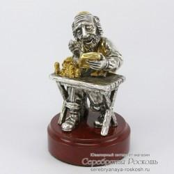 Статуэтка из серебра Еврей бухгалтер