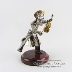Серебряная статуэтка Еврей со скрипкой