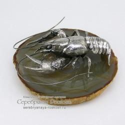 Серебряная статуэтка Рак