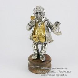 Серебряная статуэтка Еврей ростовщик