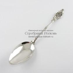 Серебряная десертная ложка Сетка