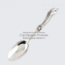 Столовая ложка из серебра Дельфин