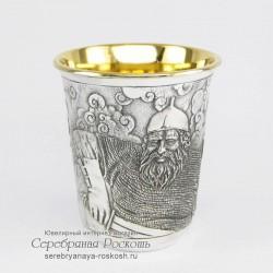 Серебряная стопка Русский богатырь