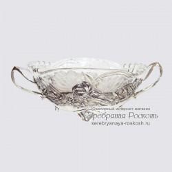 Серебряная ваза Цветы