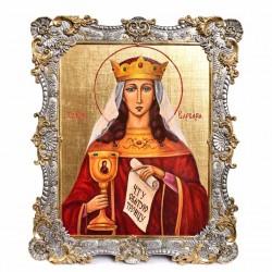 Икона Святая Варвара в серебряном окладе