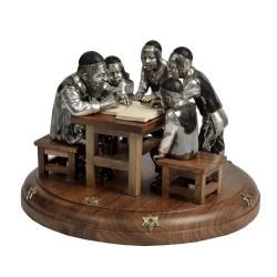 Меламед с учениками - серебряная композиция
