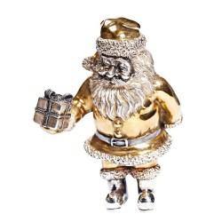 Серебряная статуэтка Дед Мороз с подарком