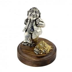 Серебряная статуэтка Еврейское счастье