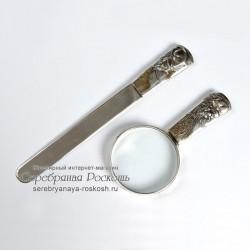 Набор лупа и нож для писем Крыса