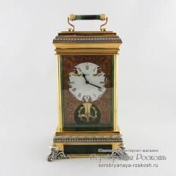 Каминные часы с нефритом