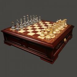 Филигранные серебряные шахматы ручной работы - Мирный воин