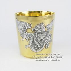 Серебряный стакан Дракон