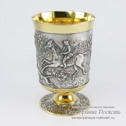 Серебряный стакан Охота