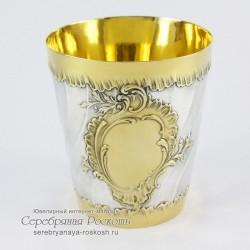Серебряный стакан Волна