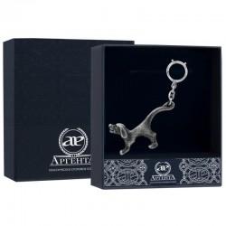 Серебряный брелок для ключей открывалка Собака