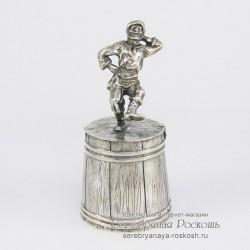 Серебряная штрафная рюмка Мужик пляшет