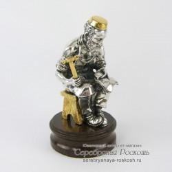 Серебряная статуэтка Еврей сапожник