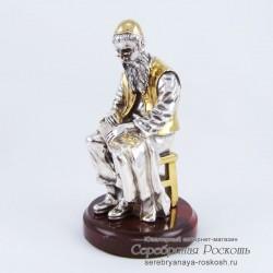 Серебряная статуэтка Еврей портной