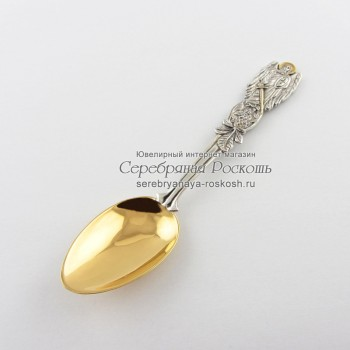 Серебряная чайная ложка Архангел Михаил