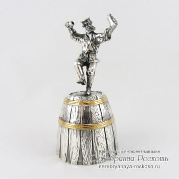 Колокольчик из серебра Мужик