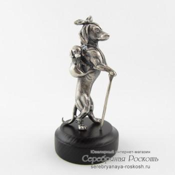 Серебряная статуэтка Бедная Собачка
