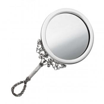 Серебряное женское зеркальце
