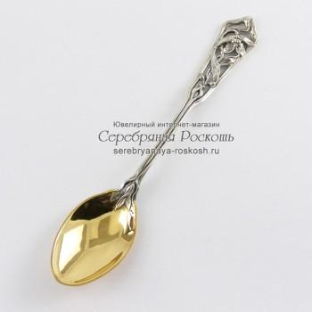 Серебряная чайная ложка Фиалка