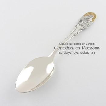Серебряная ложка для ребенка Лев