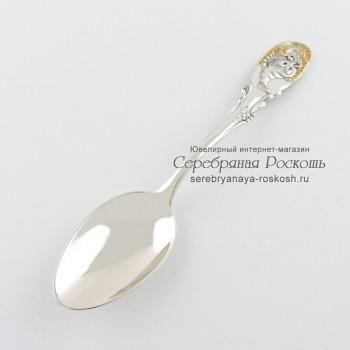 Серебряная ложка для ребенка Рак