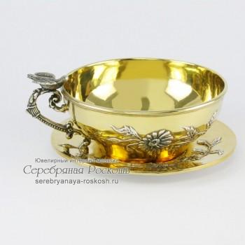 Чайная чашка с блюдцем - Ромашки