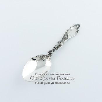 Детская серебряная ложка Роза