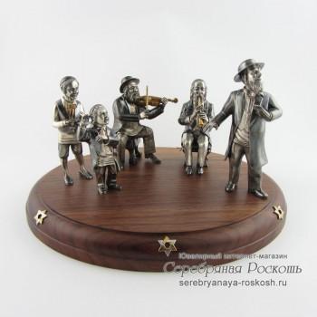 Серебряная статуэтка Еврейский праздник