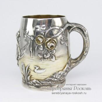 Серебряная кружка Ангелочки