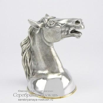 Рюмка из серебра Лошадь