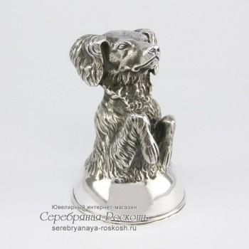 Серебряная рюмка Собака