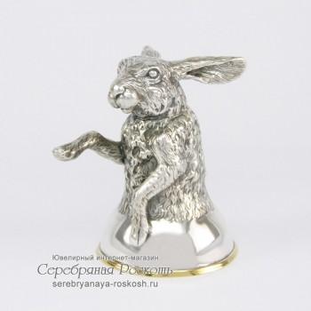 Серебряная рюмка Заяц