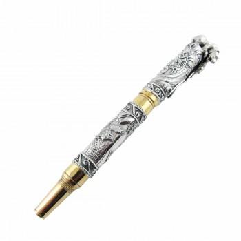 Серебряная ручка Медведь