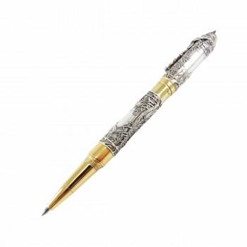 Серебряная эксклюзивная ручка Волки